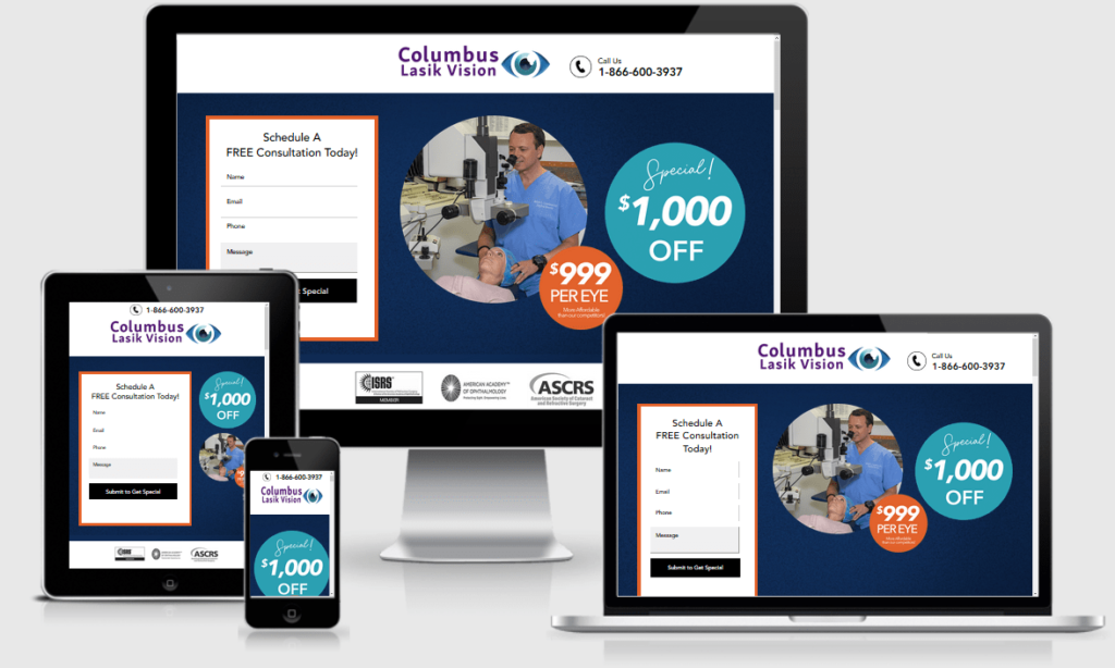 New Landing Page for Lasik Doctor