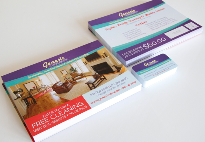 Cleaning Company Business Card & EDDM Postcard Design