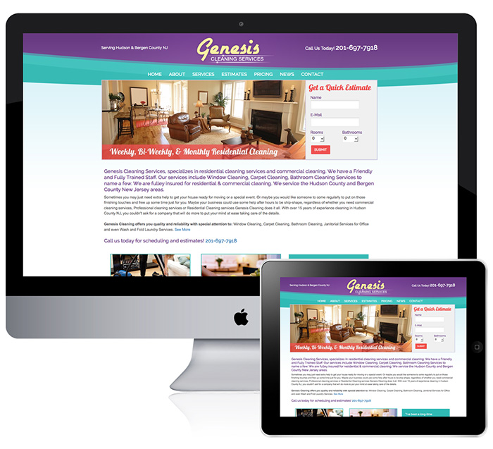 Cleaning Company Website Design in NJ