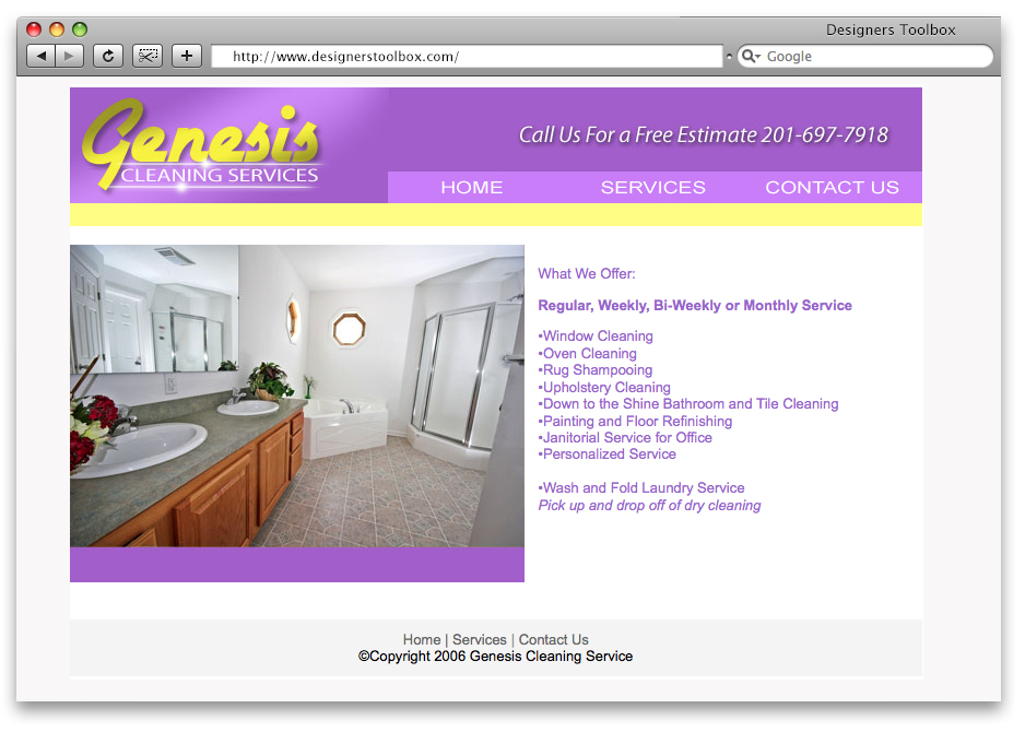 Old Cleaning Website Design