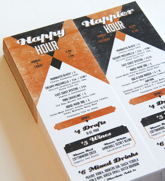 Happy Hour Menus