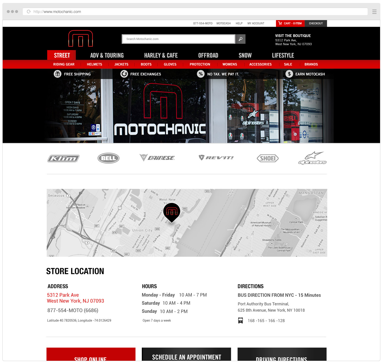 Motochanic Retail Page
