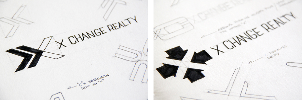 xchange-realty-logo-sketches