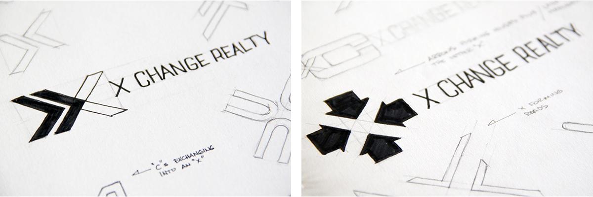 xchange-realty-logo-sketches