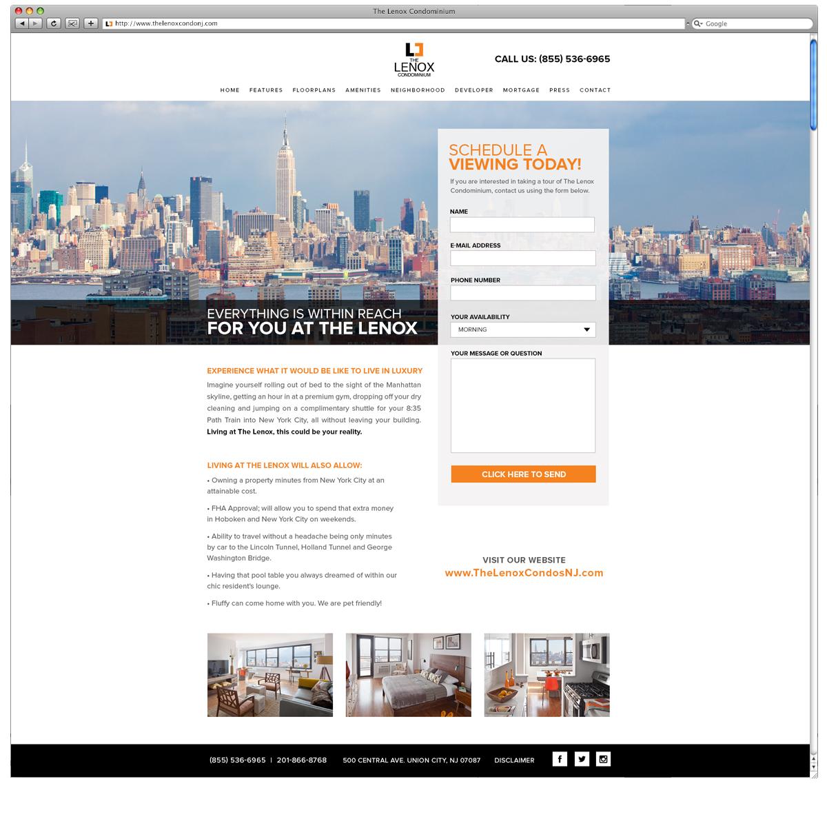 The Lenox Landing Website