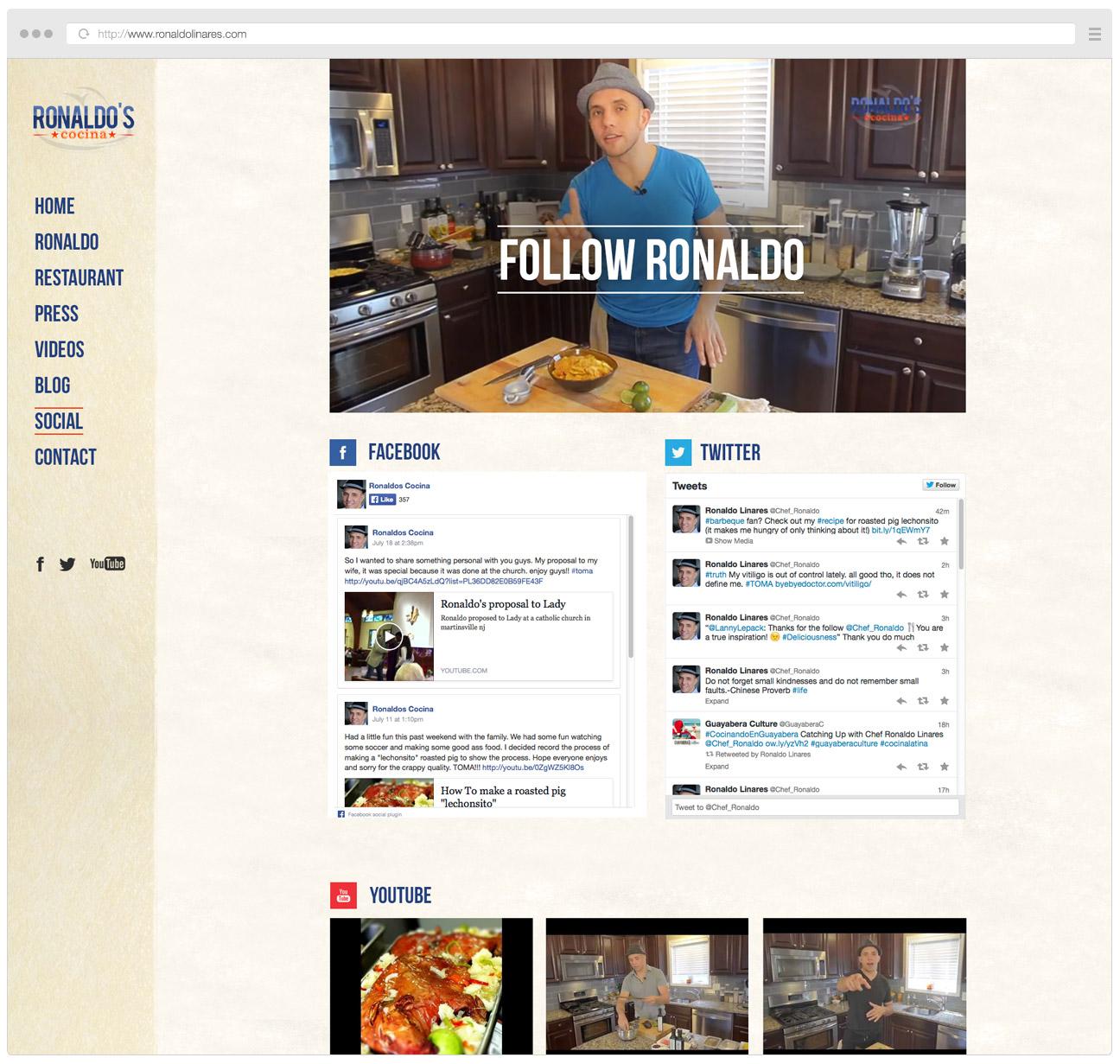 Ronaldo Linares Website Social