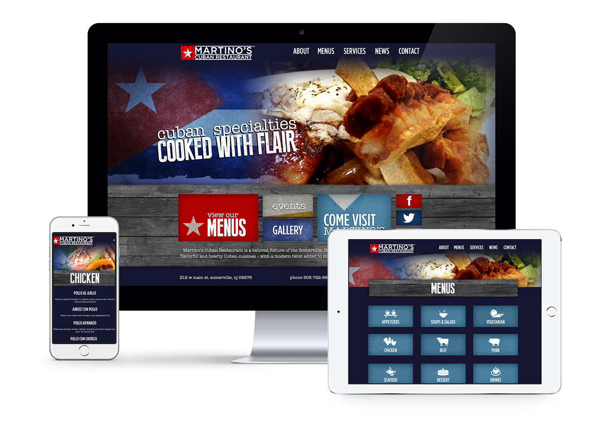 Martino's Cuban Website Responsive