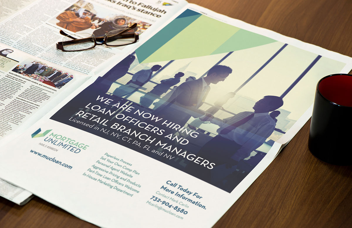 Mortgage Unlimited Newspaper Ad