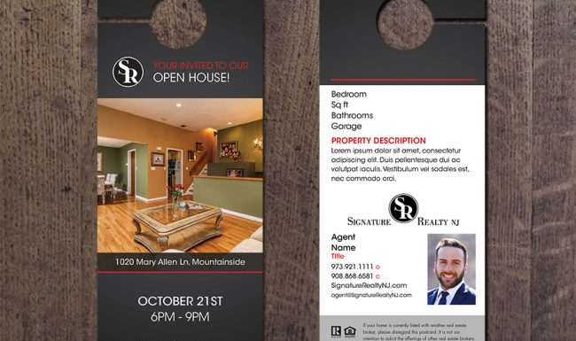 signature_realty_open_house_door_hanger