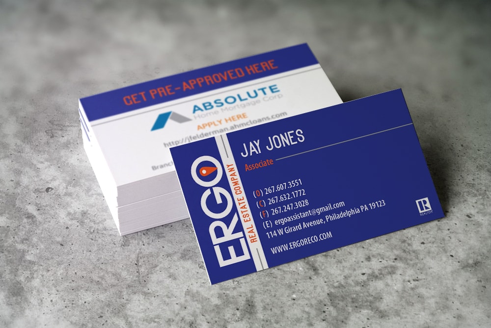 Ergo Business Cards - pix-l graphx | creative design agency